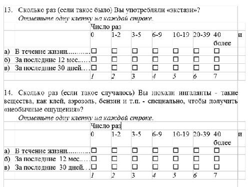 Анкета про секс